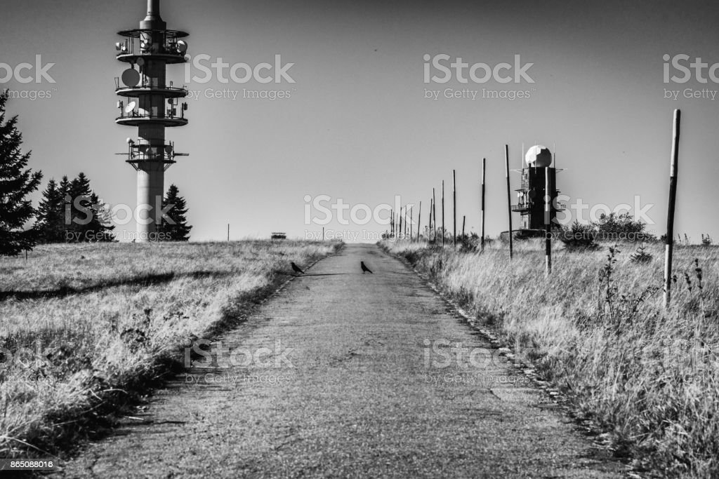 Black and white picture of the Feldberg stock photo