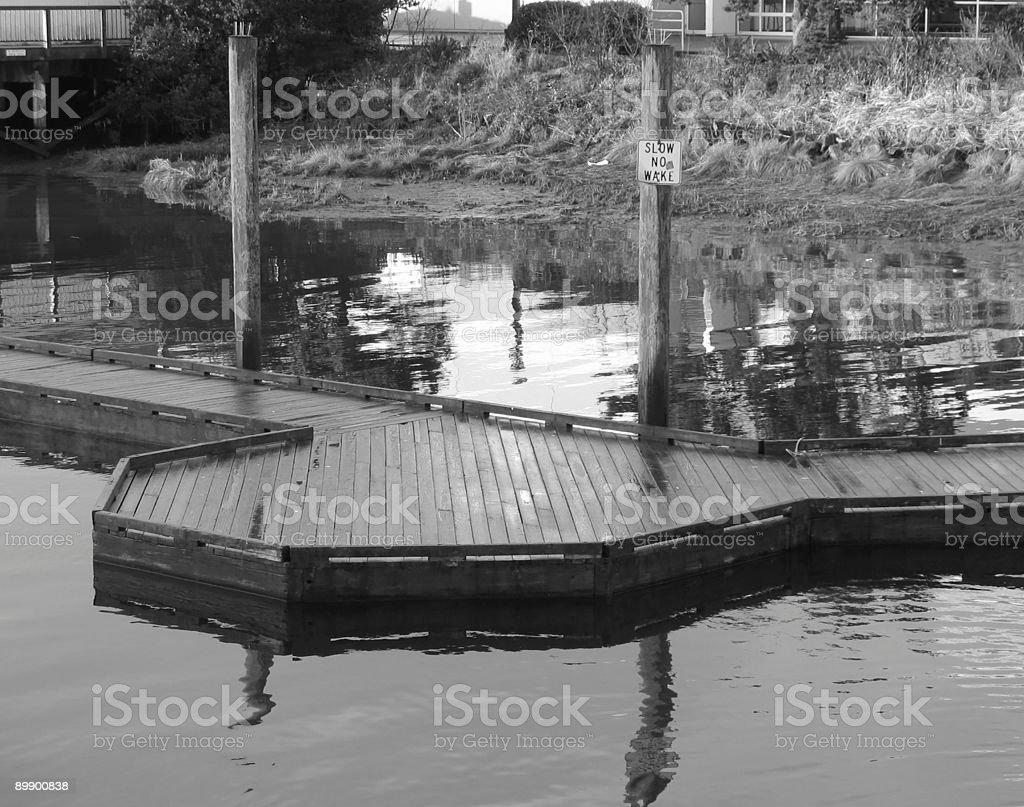 Black and white pier royalty-free stock photo