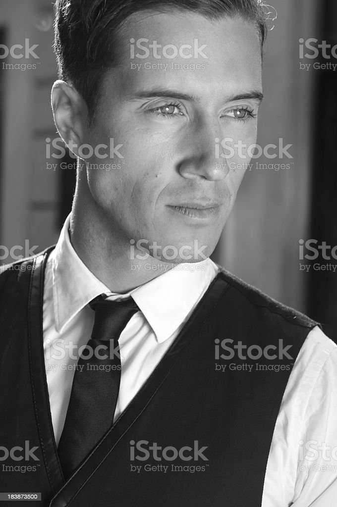 black and white portrait royalty-free stock photo
