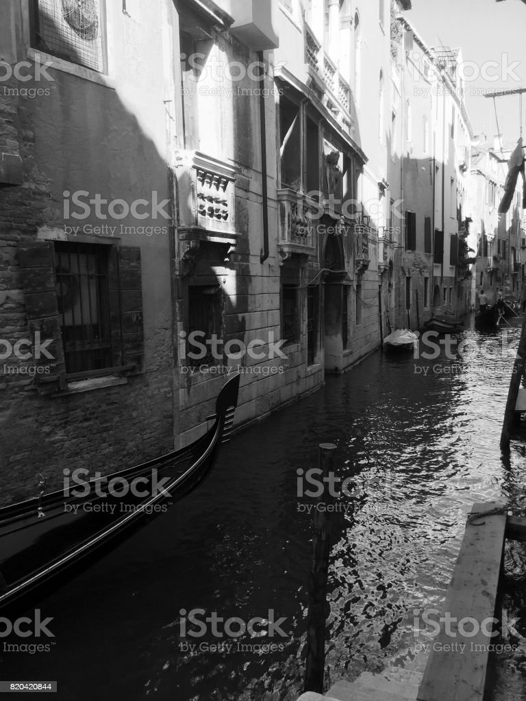 Black And White Postcard From >> Black And White Postcard From Venice Stock Photo More Pictures Of