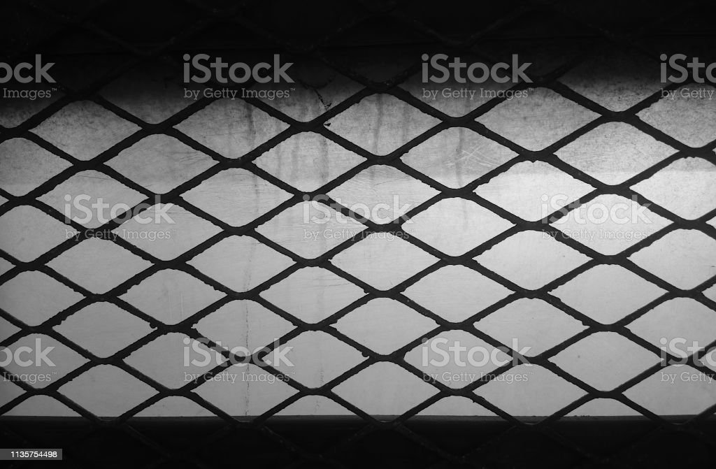 Black And White Prison Fence Texture Background Hd Stock