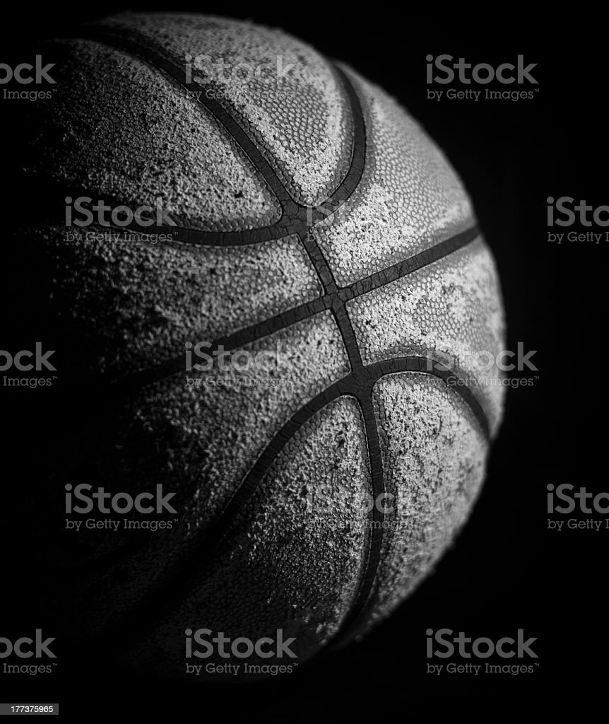 Black and white professional basketball stock photo