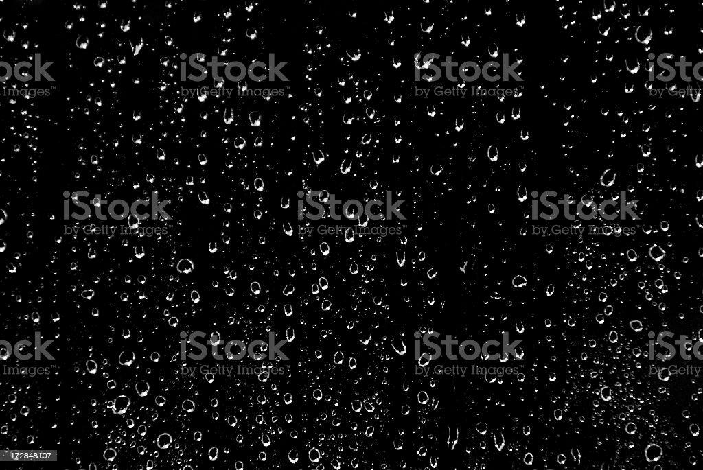 Blanco y negro de lluvia - foto de stock