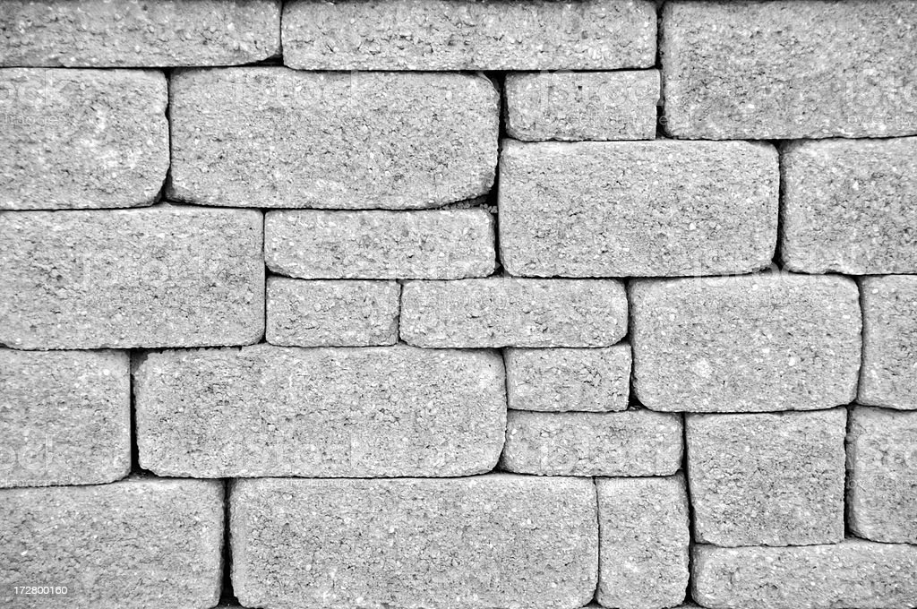 Black and White Retaining Wall-XL royalty-free stock photo