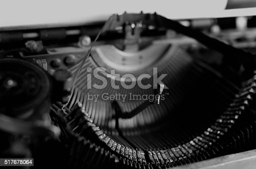 istock black and white retro typewriter letter 517678064