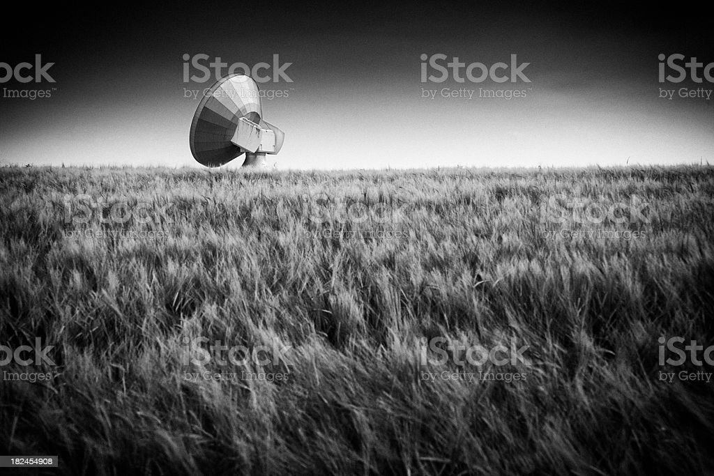 Black And White Satellite Antenna royalty-free stock photo