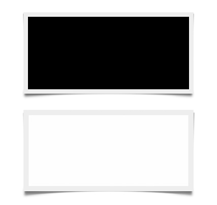 Screens with white border on white background with Clipping Path