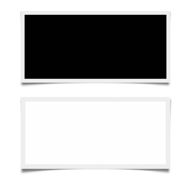 Black and White Screens Isolated, with Clipping Path stock photo