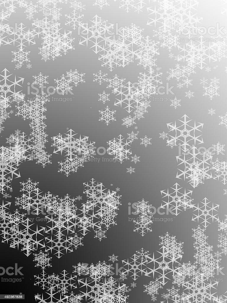 Bianco E Nero Lucido Vacanze Invernali Sfondo Con Fiocchi Di Neve