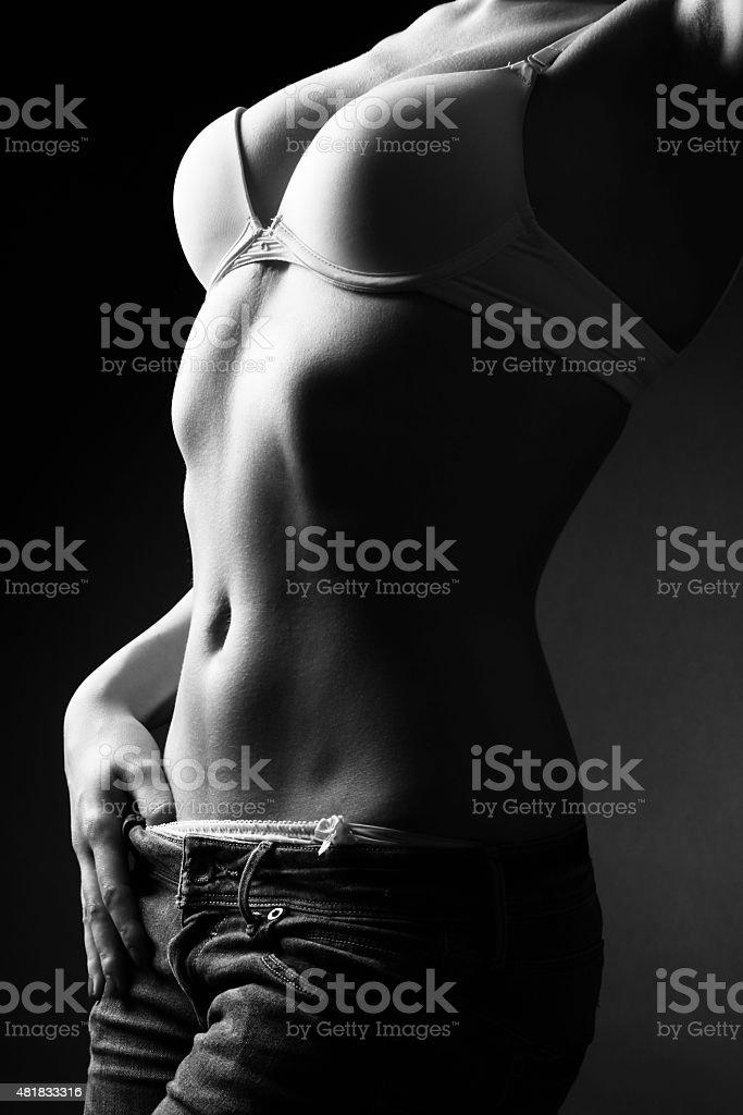 Cтоковое фото Черный и белый силуэт из части молодые и сексуальные женщины