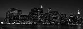 istock Black and white skyline of New York 93349402