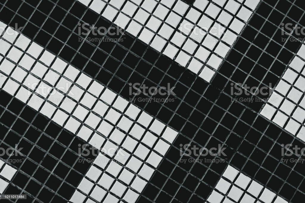 photo libre de droit de petite salle de bain carre noir et blanc carrelage avec motif moderne vue de dessus du carrelage mural de salle de bains fond de petits carreaux carres
