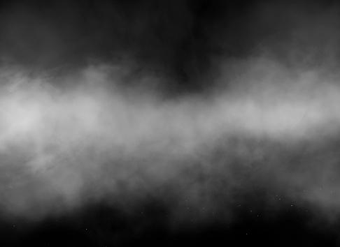 White smoke over black background