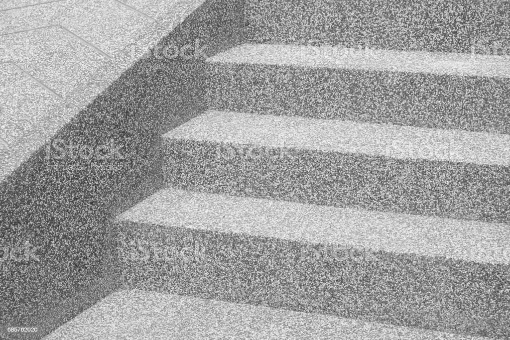 Black and white stone and concrete staircase. modern architecture detail. Refined fragment of contemporary office interior / public building. royalty free stockfoto