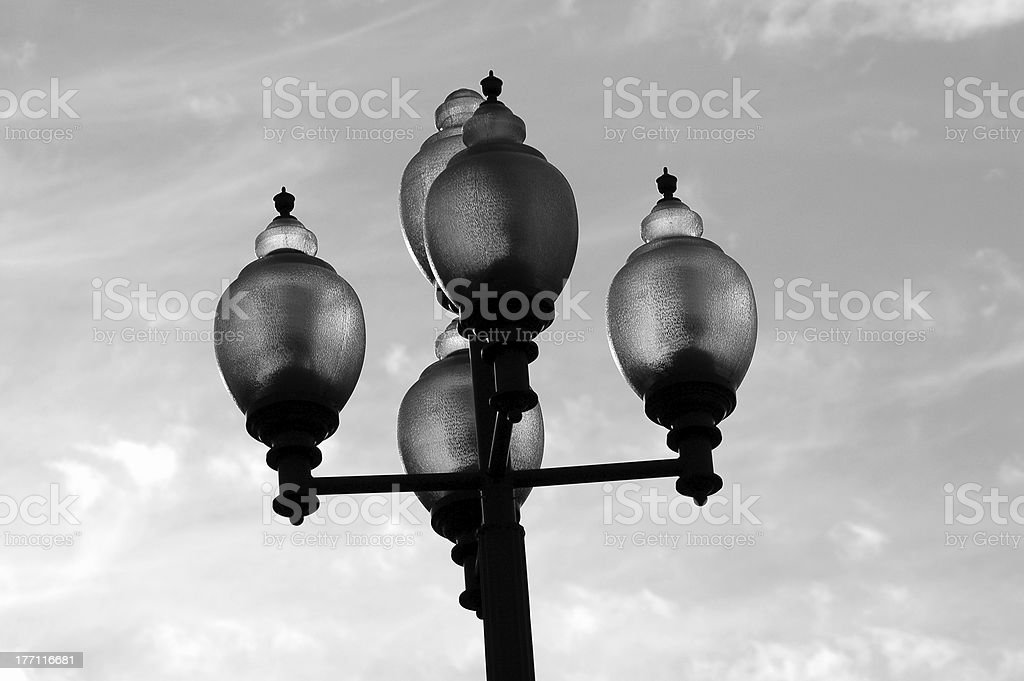 Black and White Streetlight royalty-free stock photo