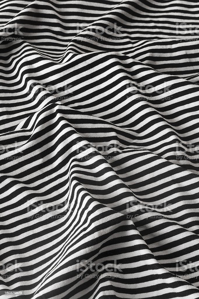 black and white stripes on fabric royalty-free stock photo