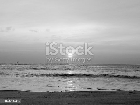 Black and white sunrise