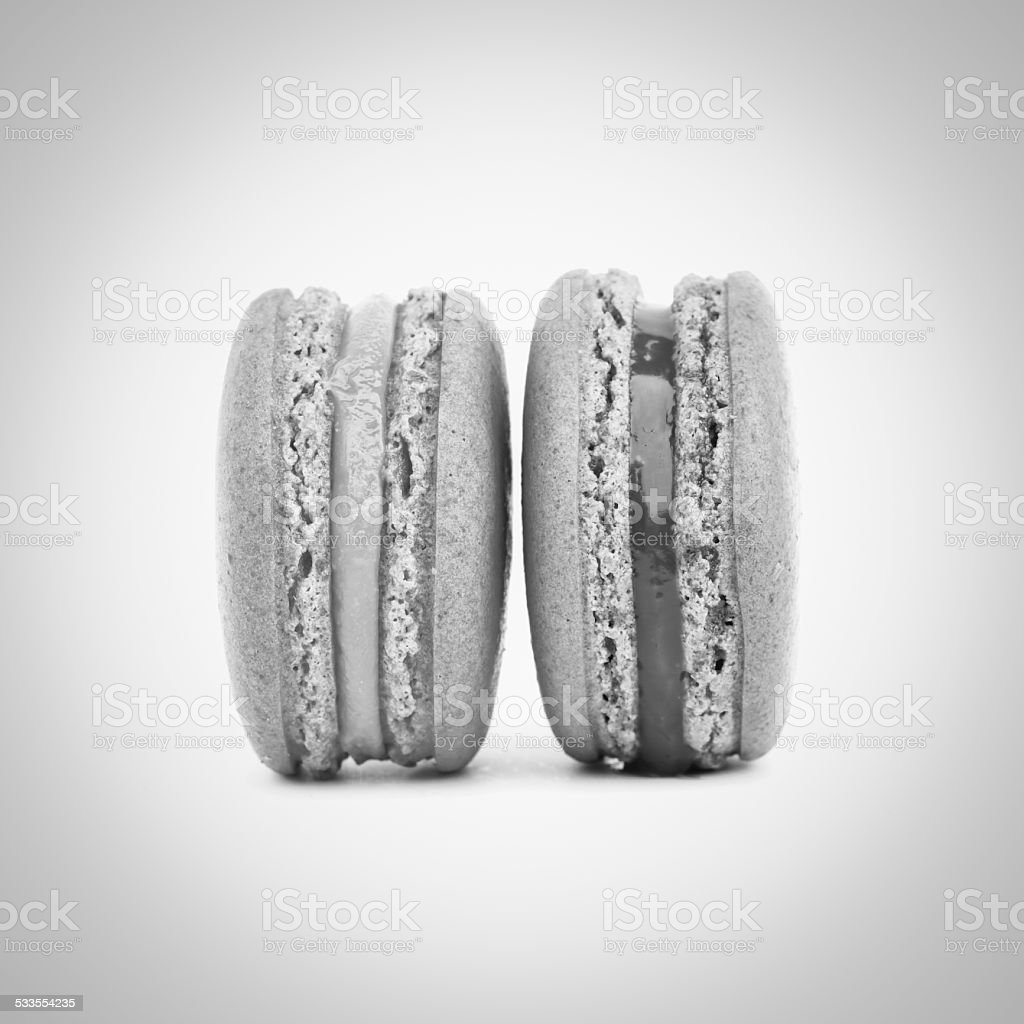 Noir et blanc Sweet macarons - Photo