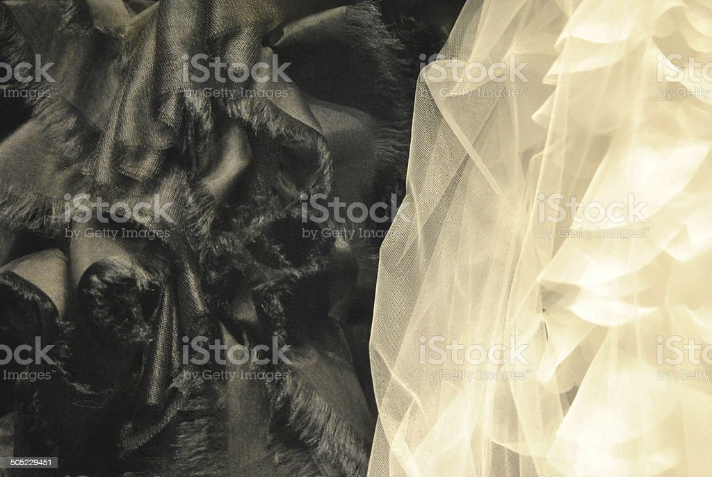 Black and white textures, fabric, fashion stock photo