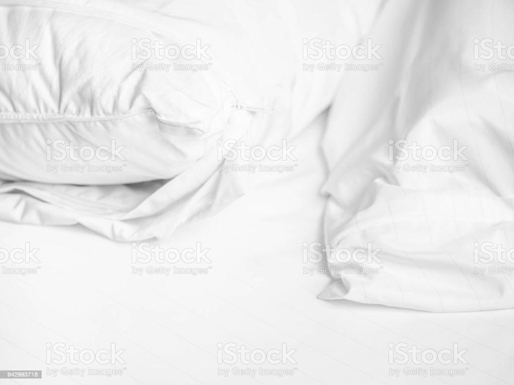 Schwarz Weißton Kissen Und Reißverschluss Decken Auf Dem ...