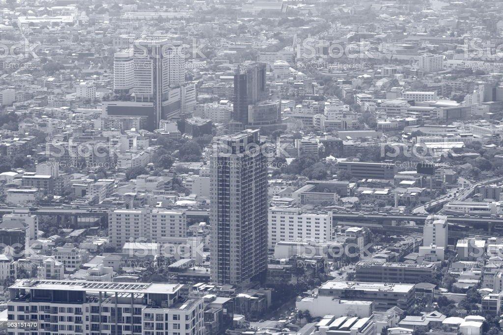 黒と白のトーン バンコク市の都市景観のイメージ - アジア大陸のロイヤリティフリーストックフォト