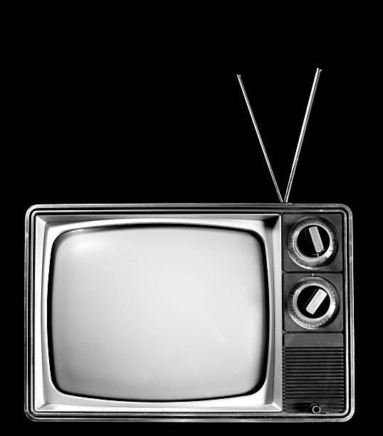 Schwarz und Weiß-Fernseher – Foto