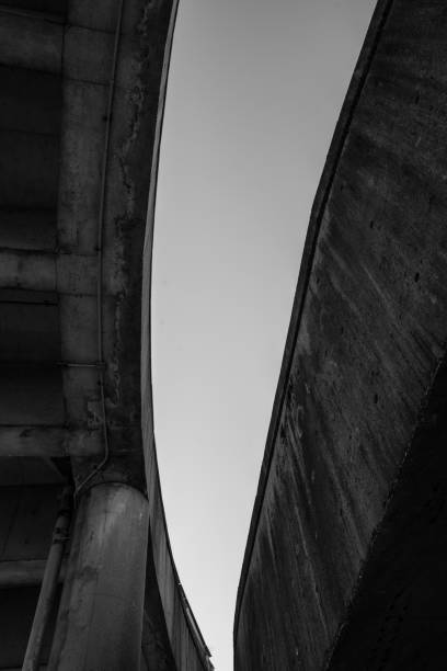 Black and White Underpass stock photo