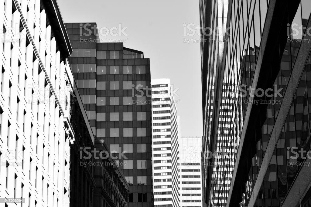 Black and White Verticals, Boston stock photo