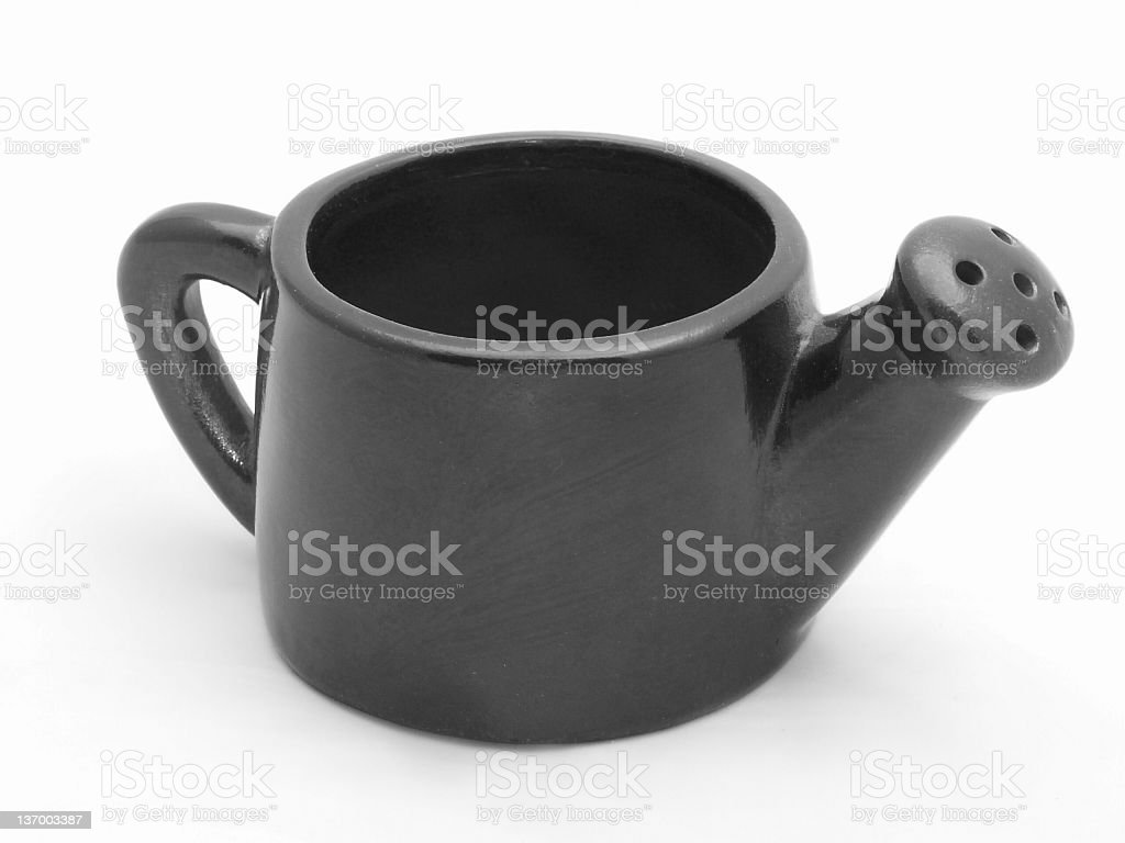 black and white watering-can royalty-free stock photo