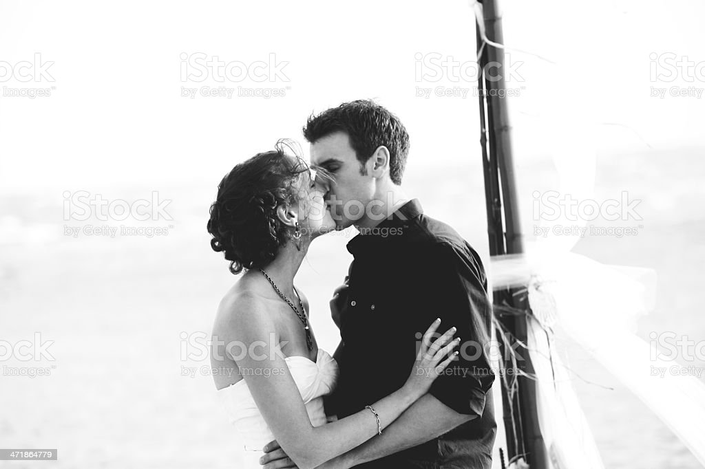 black and white wedding stock photo