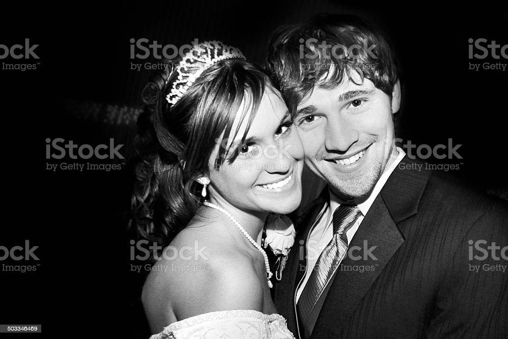 black and white Wedding stock photo