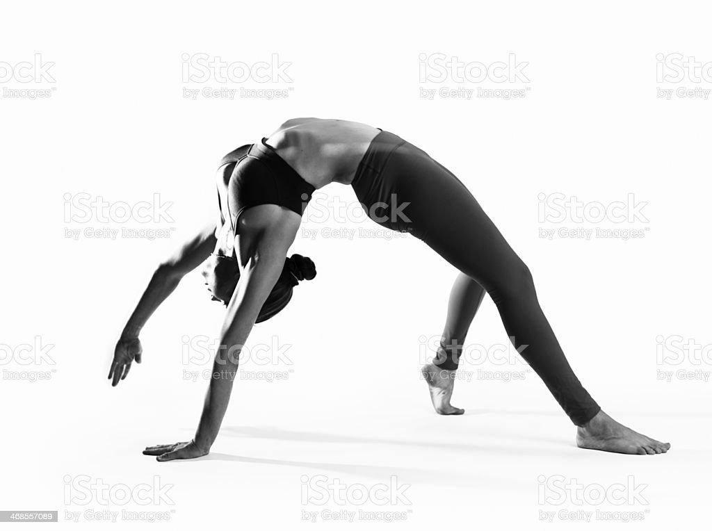 Black and White Yoga stock photo