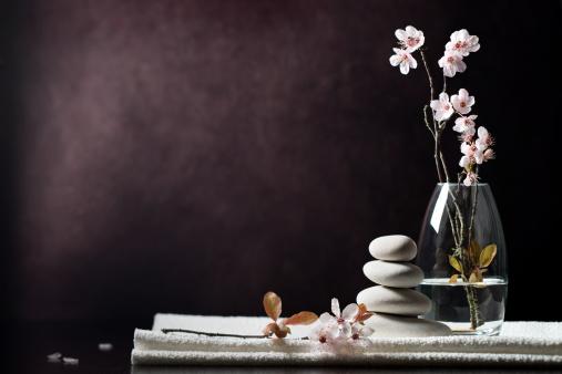 Black And White Zen Spa Flower Background Stock Photo ...