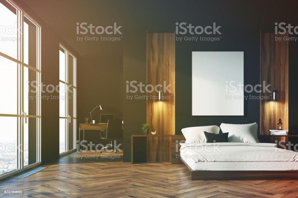 Chambre noire et en bois bureau à domicile u photos et plus d