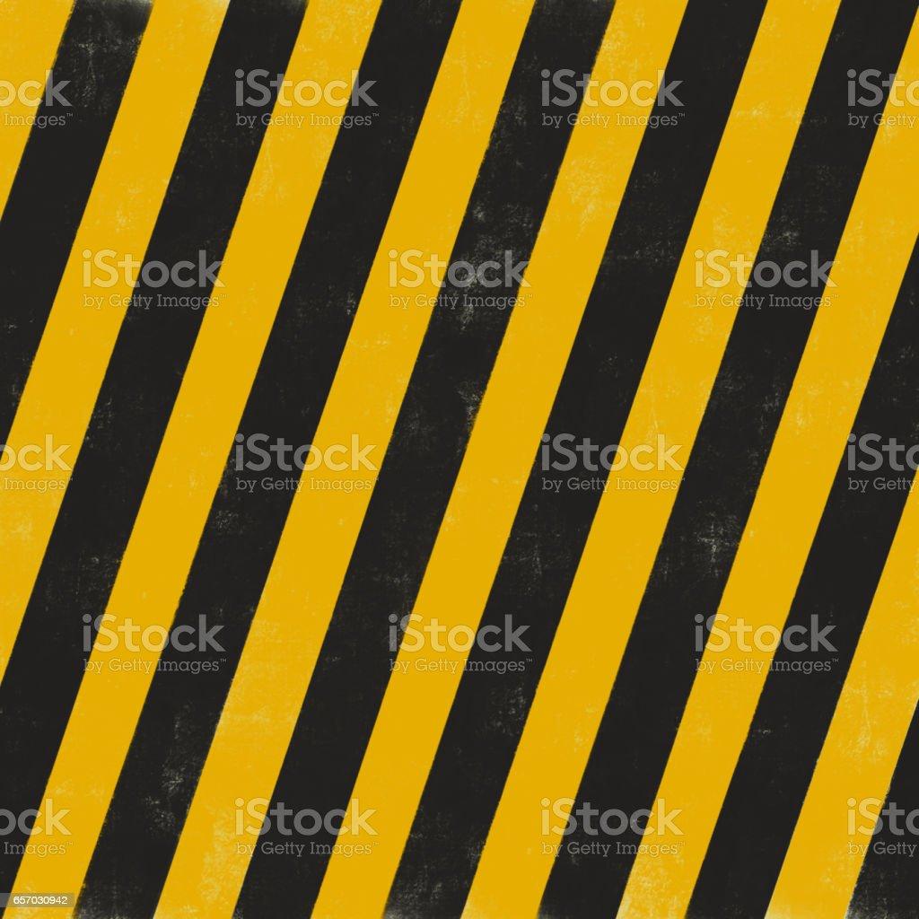 black and yellow diagonal stripes. stock photo