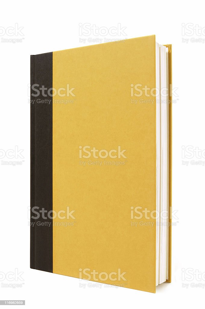 Black and yellow hardback book royalty-free stock photo