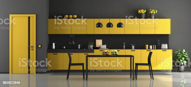 Black and yellow modern kitchen picture id954922846?b=1&k=6&m=954922846&s=612x612&h=r76okeyssbjakypv9fqcoqexqmrolzag bgf4ptrl88=