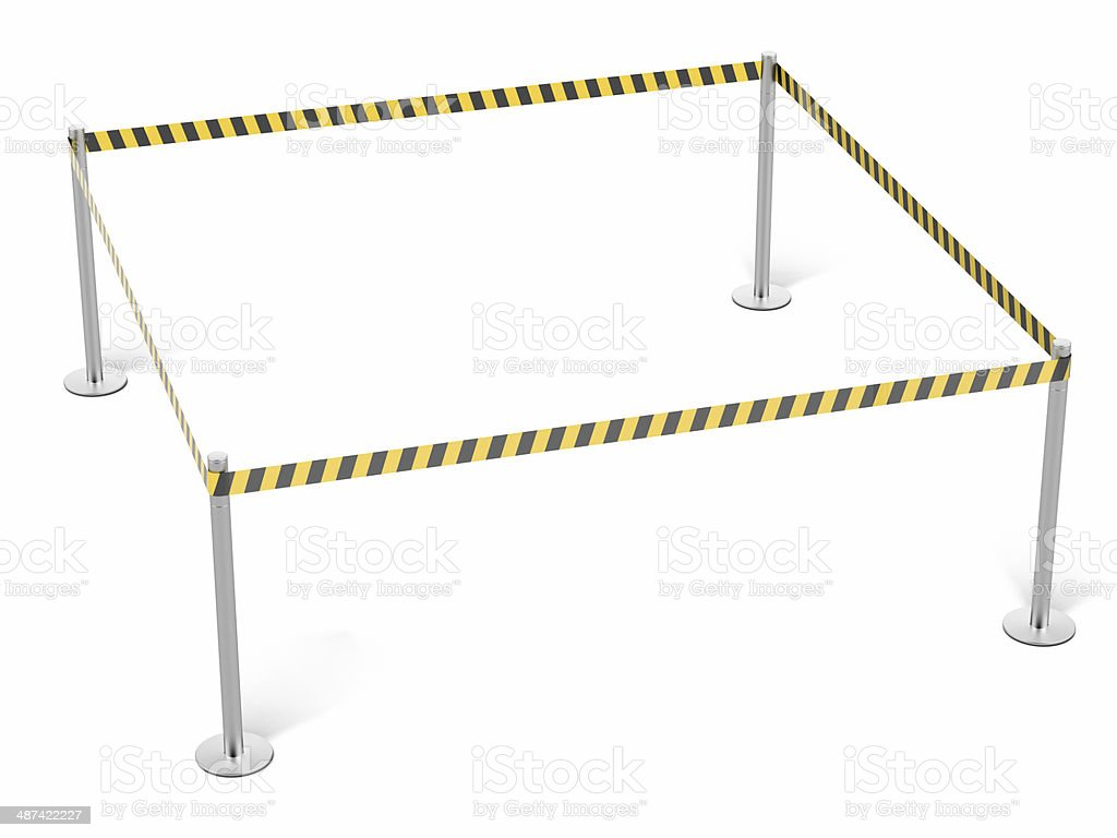 Black and yellow striped tapes stock photo