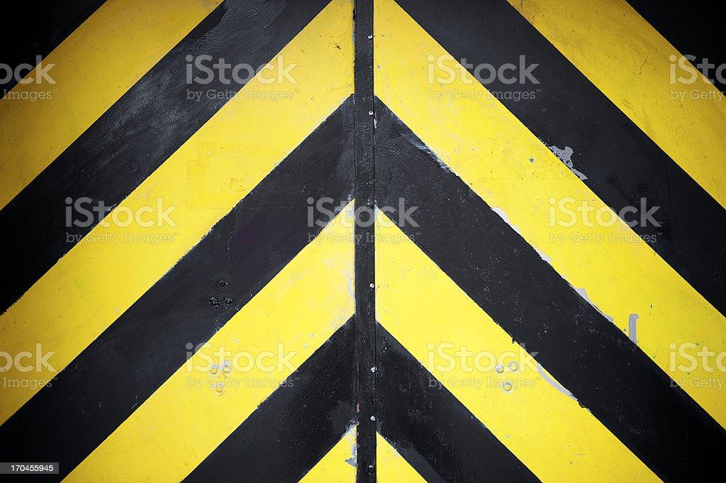Black and Yellow Stripes Hazard Background stock photo