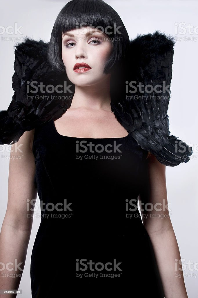 Black angel royalty-free stock photo