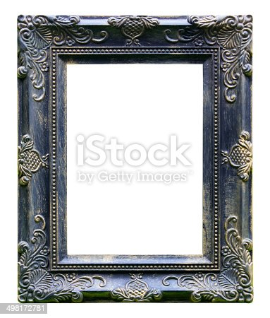 Black Antique Vintage Picture Frames Isolated On White Backgro Stock ...