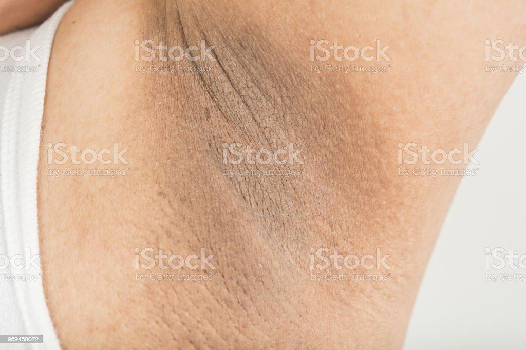Black armpit skin stock photo