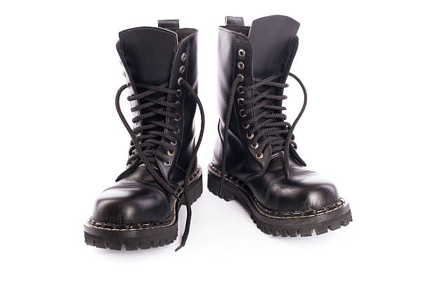 black army shoes stock photo