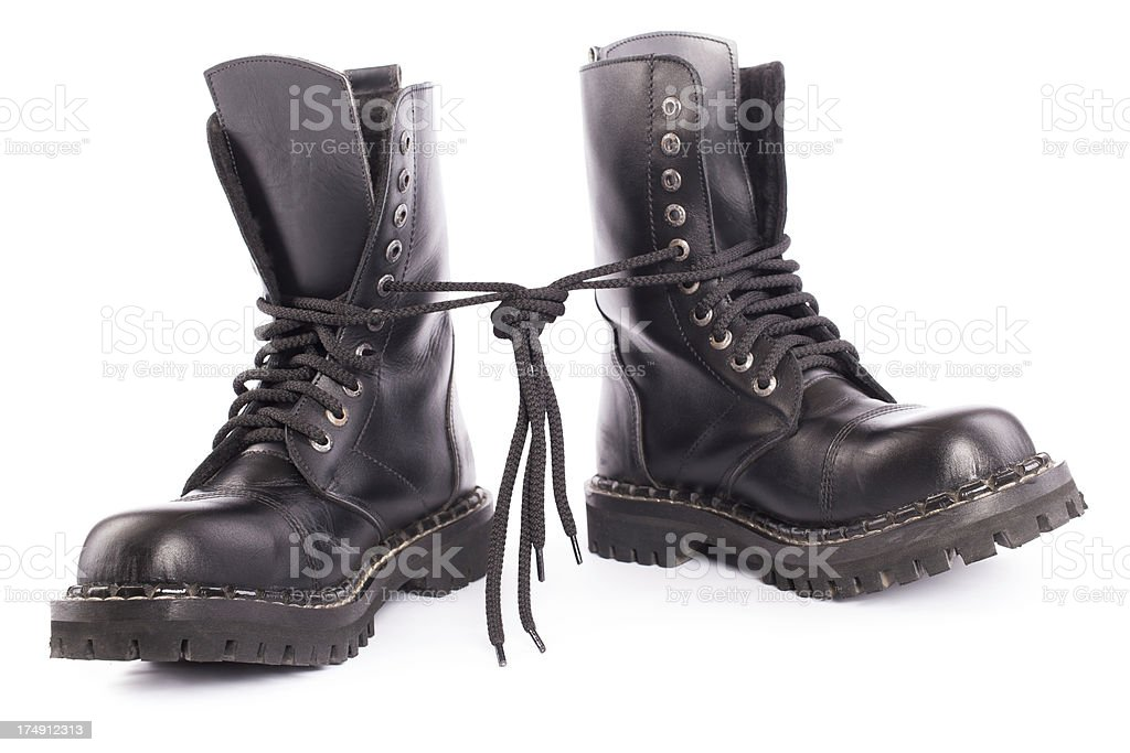 black army shoes royalty-free stock photo
