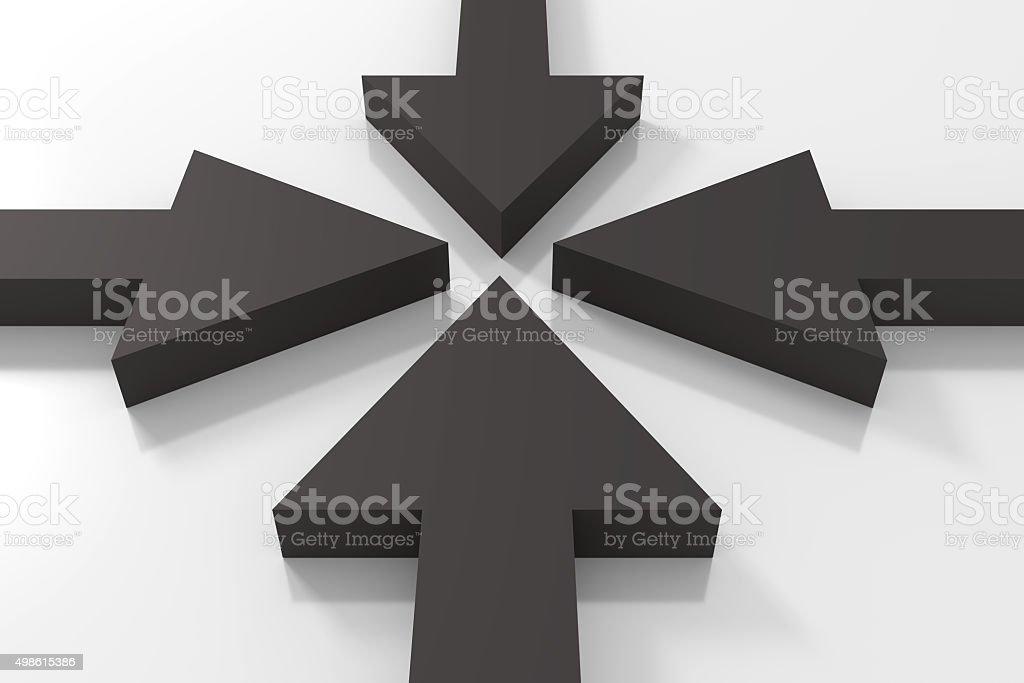 Black arrows stock photo