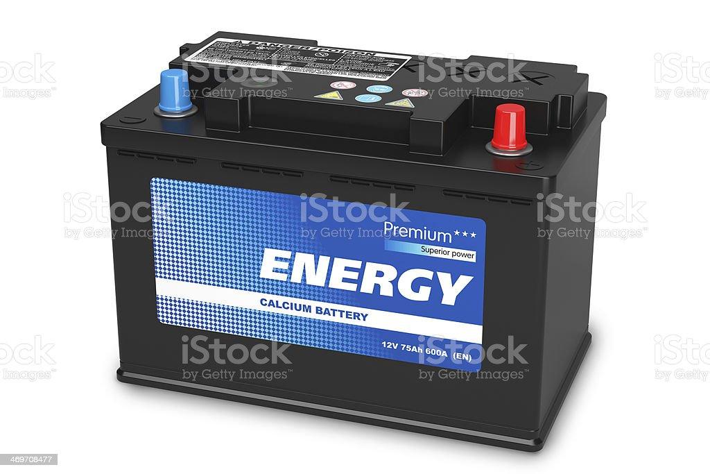 Black automobile battery stock photo