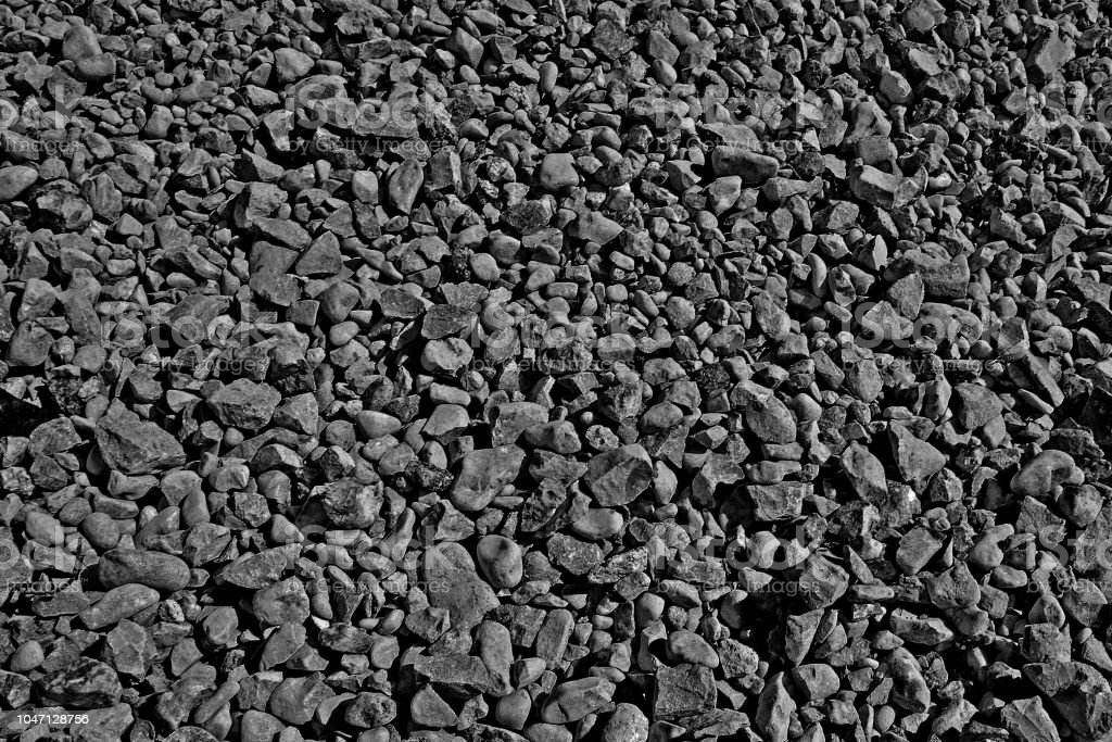 Black Background From Gravel Texture Friable Building