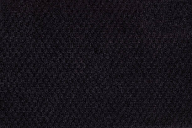 black background from soft fleecy fabric closeup. texture textiles - hair line surface stock photos and pictures