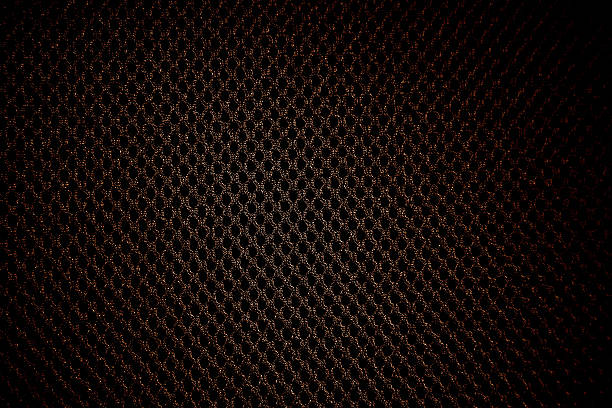 black background holes spots metal pattern textile material nylon cotton - nylon texture stock pictures, royalty-free photos & images