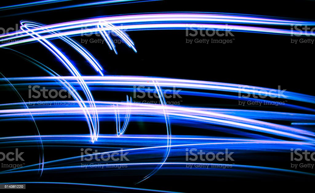 black background screensaver LED NEON Abstract Art stock photo